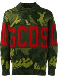 камуфляжный свитер с логотипом Gcds