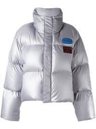 куртка-пуховик с эффектом металлик Hyein Seo