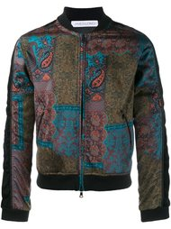 paisley print bomber jacket  James Long