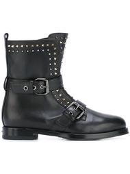 байкерские ботинки с заклепками Le Silla