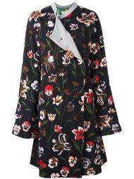 жаккардовое пальто с цветочным принтом Ermanno Gallamini