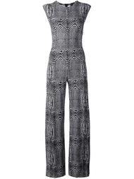 optical illusion print jumpsuit Norma Kamali