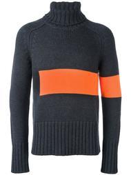 colour block knit rollneck Wooster + Lardini
