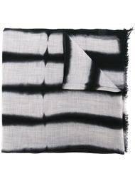 полосатый шарф с необработанными краями Suzusan