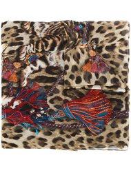 платок с принтом бенгальских кошек Dolce & Gabbana