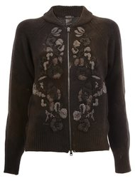 floral knit zipped cardigan Avant Toi