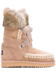 'Eskimo' rabbit fur trim boots Mou