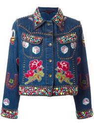 декорированная джинсовая куртка Manish Arora