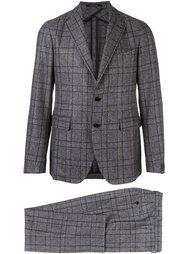 two-piece plaid suit Tagliatore