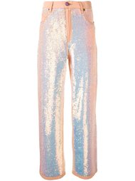 sequin flared trousers Ashish