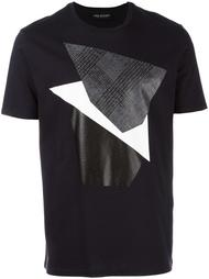 футболка с геометрическим принтом Neil Barrett