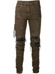 джинсы кроя скинни с рваными деталями Amiri