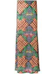 printed maxi skirt Blue Man