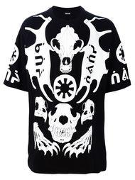футболка с принтом черепов животных KTZ