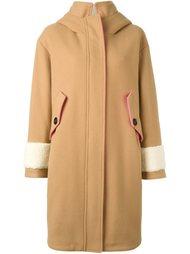 пальто из овчины с капюшоном Bazar Deluxe