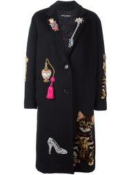 декорированное пальто  Dolce & Gabbana