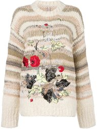 floral embroidery sweater Antonio Marras