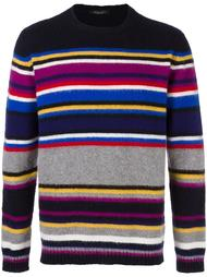 striped crew neck sweater Roberto Collina
