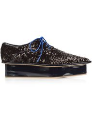 sequinned platform Oxford shoes Delpozo