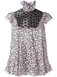 блузка с леопардовым принтом Giamba
