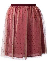мини юбка из тюля Red Valentino