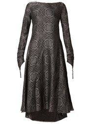 patterned flared dress Aganovich