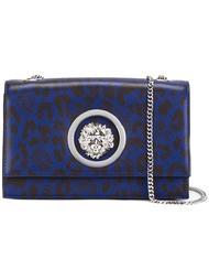 сумка через плечо с леопардовым принтом   Versus