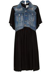 платье с джинсовой панелью Junya Watanabe Comme Des Garçons