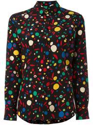 рубашка с абстрактным принтом   Saint Laurent