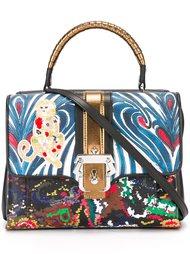 сумка-сэтчел с контрастным принтом Paula Cademartori