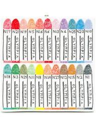 клатч-книга с разноцветным рисунком Olympia Le-Tan