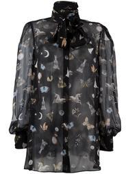 блузка с рисунком 'Obsession' Alexander McQueen