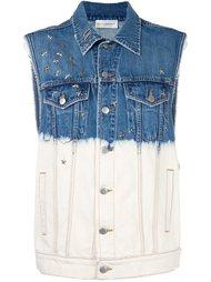 джинсовый жилет с контрастным принтом Faith Connexion