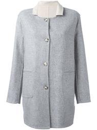 пальто с контрастным воротником   Closed