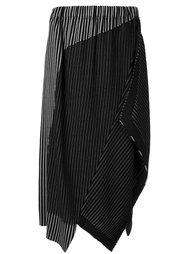 асимметричная юбка в тонкую полоску Issey Miyake