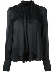 блузка с драпированными лацканами Plein Sud