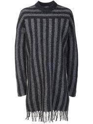 трикотажное платье в полоску T By Alexander Wang
