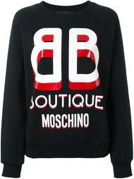 толстовка с принтом-логотипом Boutique Moschino