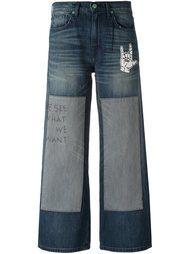 широкие джинсы с вышитым текстом Sandrine Rose