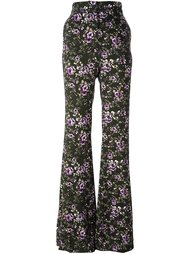расклешенные брюки с цветочным принтом Rochas