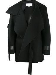 пальто с кожаными ремешками Esteban Cortazar