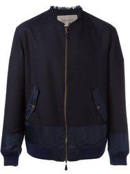 frayed neck bomber jacket Casely-Hayford