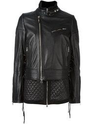 стеганая байкерская куртка Diesel Black Gold