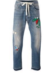 джинсы с вышивкой Andrea Pompilio