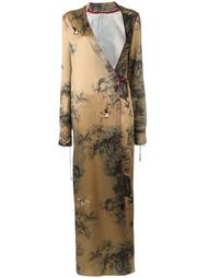 платье с запахом и V-образным вырезом Attico