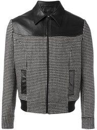куртка на молнии в ломаную клетку Saint Laurent