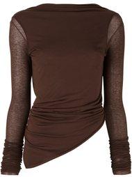 асимметричный свитер Rick Owens Lilies