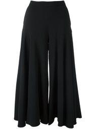 укороченные широкие брюки с завышенной талией Osman