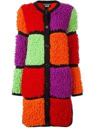 пальто букле дизайна колор-блок Boutique Moschino