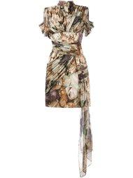 плиссированное платье с цветочным рисунком Christopher Kane